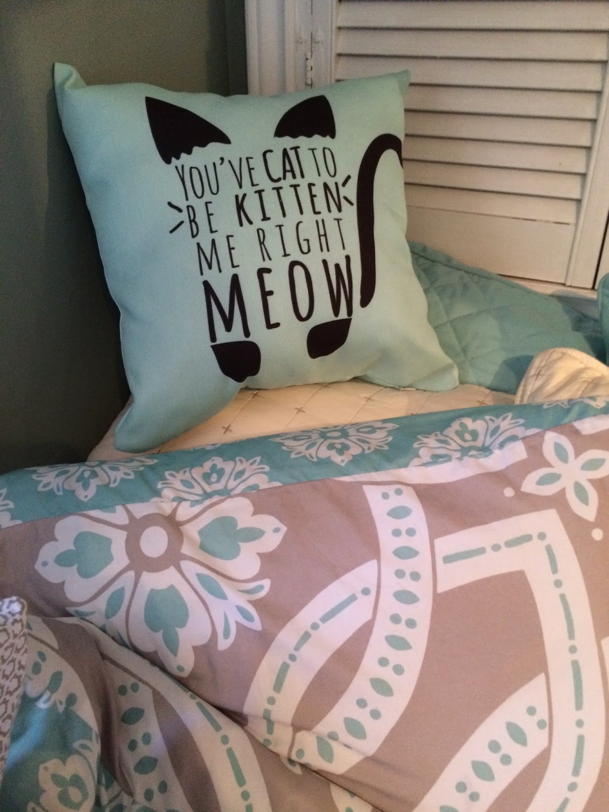 cat to be kitten me right meow pillow