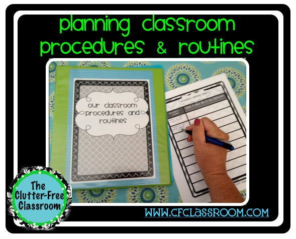 Check out the Clutter Free Classroom's elementary classroom management procedures and routines ideas, strategies, and techniques! Her tips making teaching and learning them with a chart, display, visuals, and cards easy!