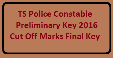TS/Telangana Police Constable Exam official key final key download