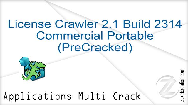 License Crawler 2.1 Build 2314 Commercial Portable (PreCracked) |  3.20 MB