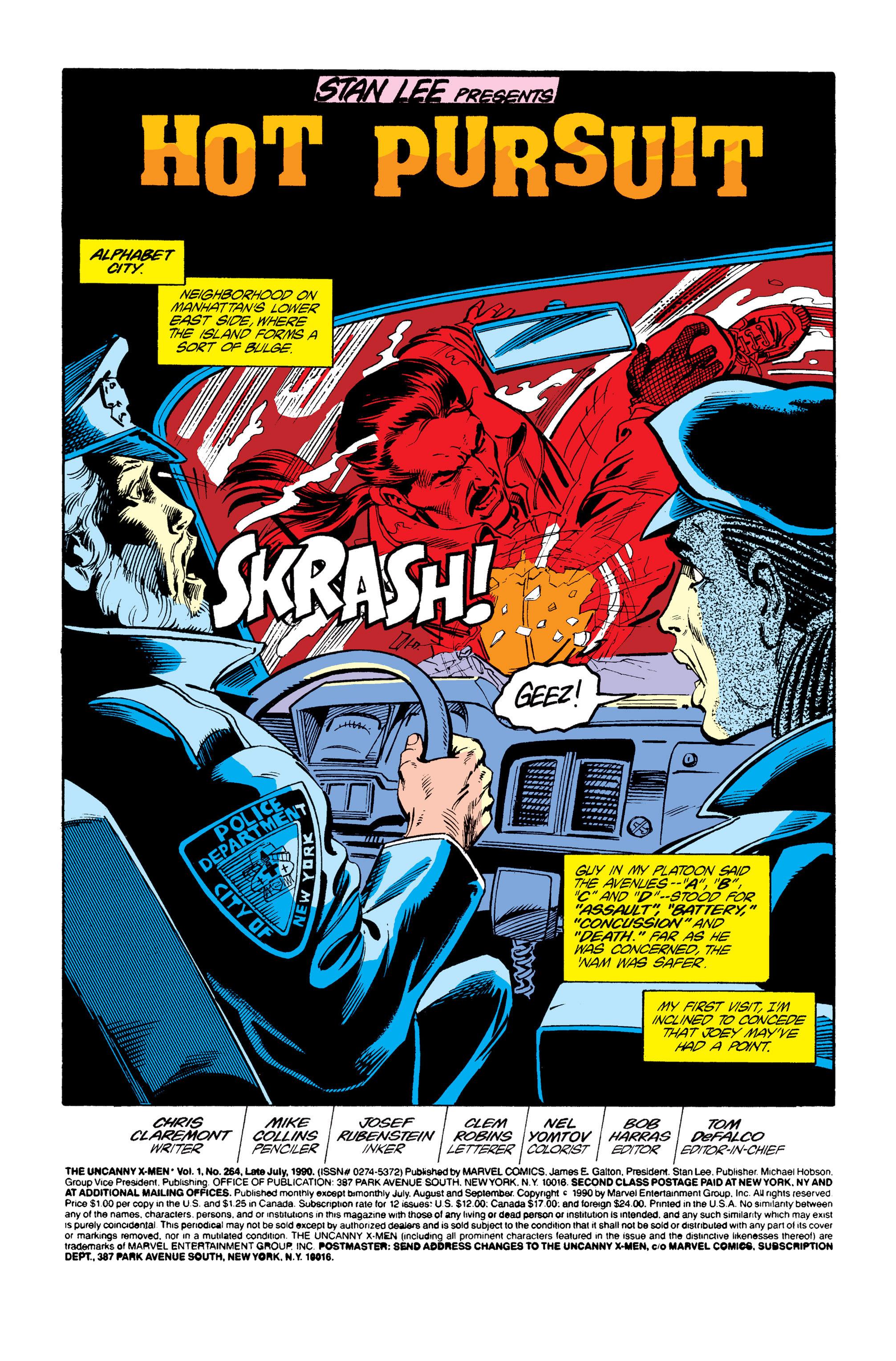 Read online Uncanny X-Men (1963) comic -  Issue #264 - 2