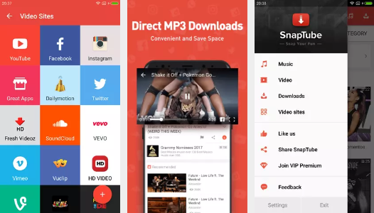Screenshots of SnapTube Mod Apk 01
