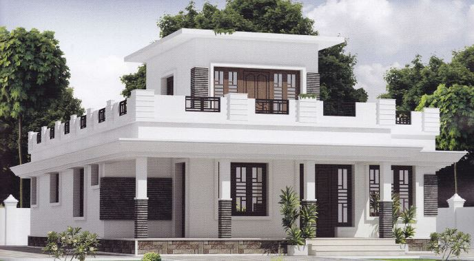 2 bedroom simple kerala home design of 1302 sq ft with for Www kerala home plans