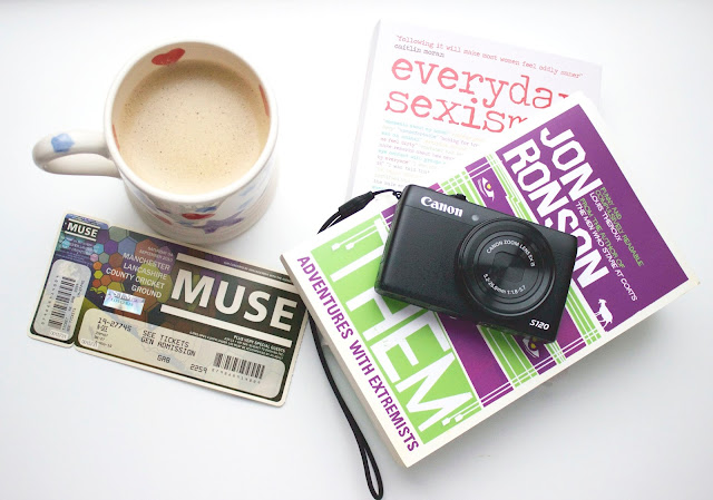 Katie Writes, lbloggers, Jon Ronson, Them, Everyday Sexism, Laura Bates, Books, Reading, Coffee, Emma Bridgewater, Muse, Tickets, Canon S120, Vlogging,