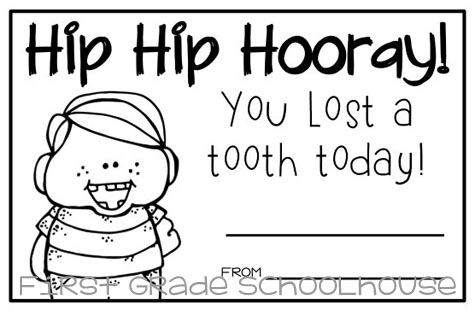Classroom Freebies: I Lost a Tooth Certificates