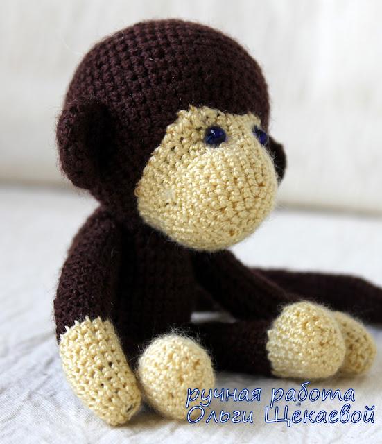 обезьянка вязанная крючком
