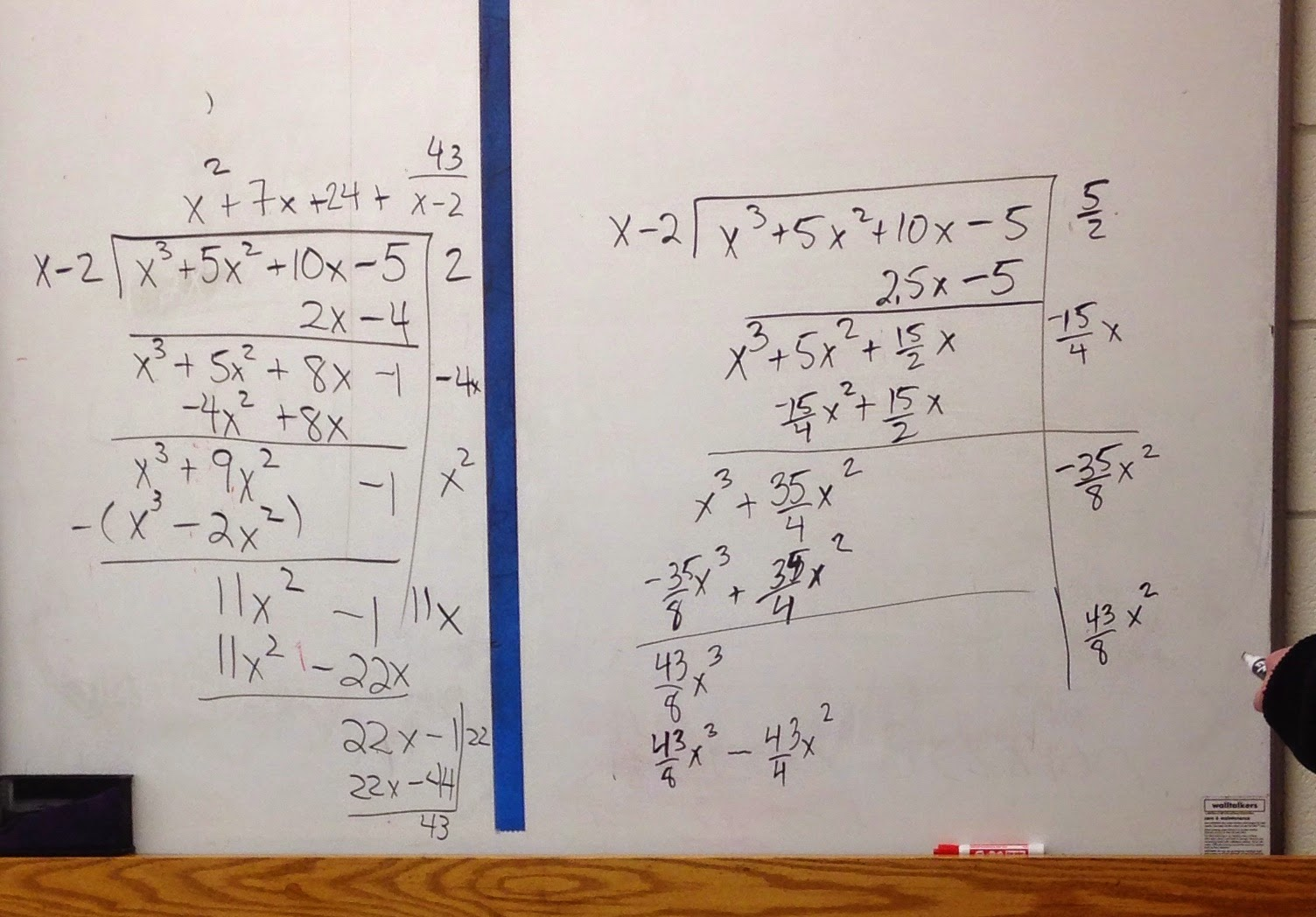 How To Check Polynomial Long Division With Remainders