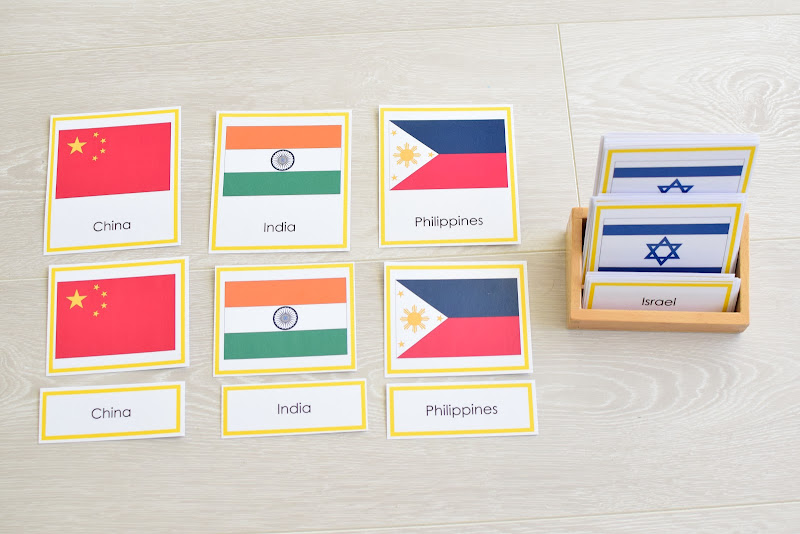Asia Study for Kids: Flag Works