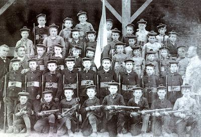 Bataillon scolaire de Naintré vers 1890