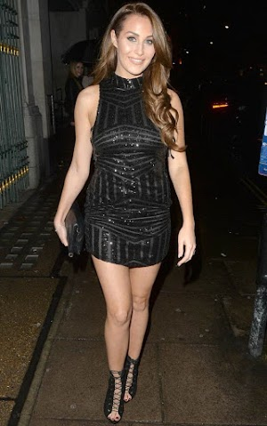 Street candids: Chloe Goodman Night Out In London