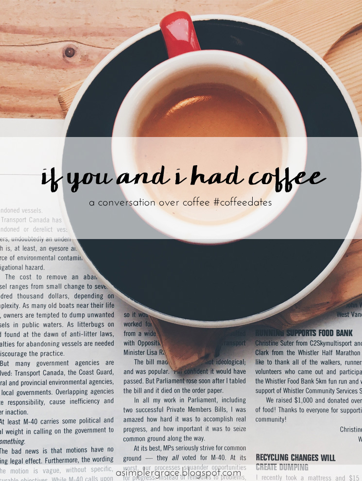 Join me for a conversation over coffee? #coffeedates #linkup