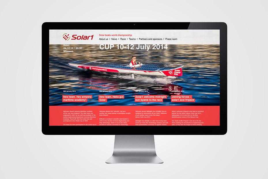 разработка дизайн сайта, Solar boat world championship MONTE-CARLO