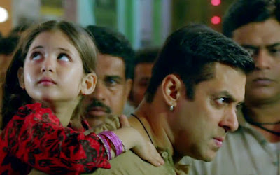 Salman Khan as Bajrangi and Harshaali Malhotra as Munni, in Bajrangi Bhaijaan, Directed by Kabir Khan