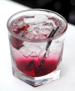 Sorel Sumberge Cocktail featuring Sorel hibiscus liqueur