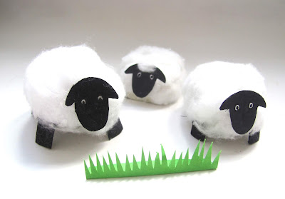 egg carton sheep