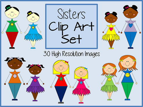 http://www.teacherspayteachers.com/Product/Big-Sisters-and-Little-Sisters-Clip-Art-Set-30-Images-1385664