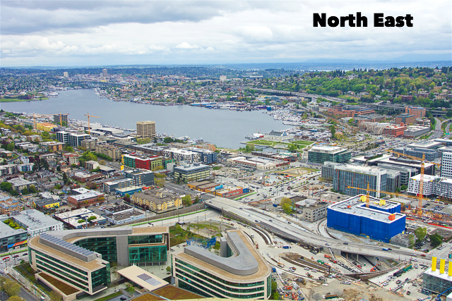 North Eastern View from the Space Needle in Seattle, WA