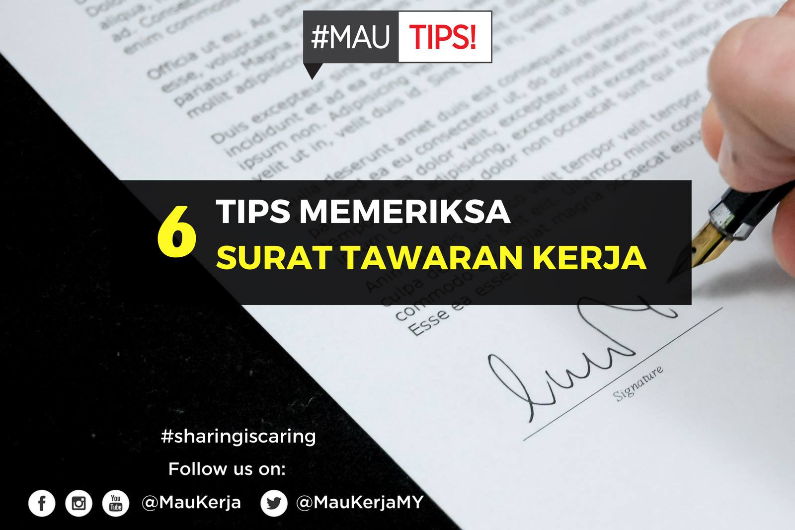 6 Tips Check Surat Tawaran Kerja ~ Wordless Wednesday