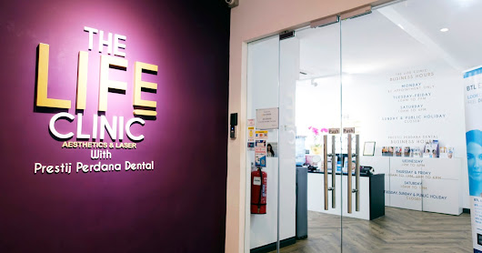 Plaza Batai has The Life Clinic which does Aesthetics & Laser, also includes a Dental Clinic right inside!