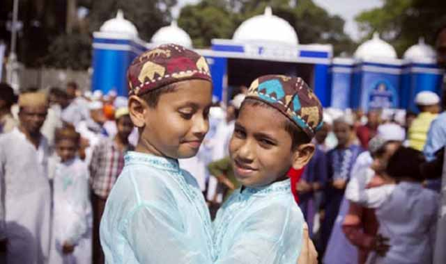 Eid Jamaat was held at the central Eidgah grounds in Bakshiganj