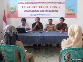 UPK Sindang Gelar Pelatihan Kader Teknik Desa