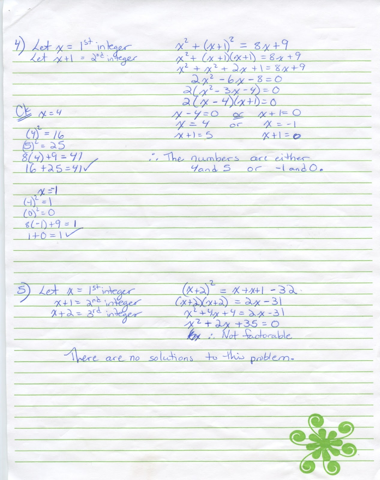 Iroquois Algebra Blog Unit 4 Word Problems Worksheet Answer Key