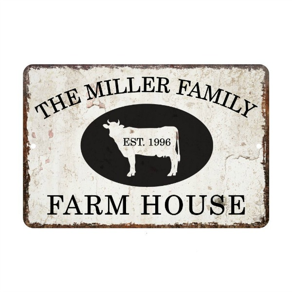 Farmhouse Cow Sign
