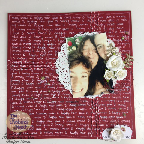 Merry Xmas Layout by Angela Tombari for The Robin's Nest