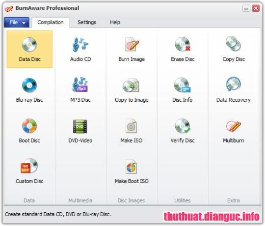 Download BurnAware Professional 11.8 Full Cr@ck – Phần mềm ghi đĩa nhỏ gọn