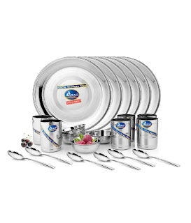 Airan Stainless Steel Dinner Set - 24 Pcs