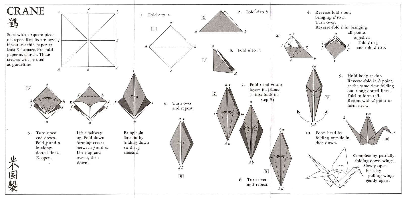 simple origami flying crane diagram internet cable wiring ai nihon 愛日本 farmofminds
