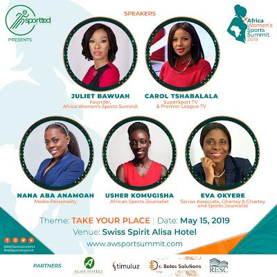 Carol Tshabalala, Juliet Bawuah, Eva Okyere & Others For Africa Women's Sports Summit On May 15