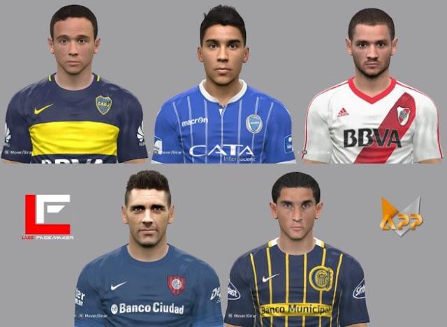 Facepack Futbol Argentino PES 2017