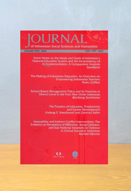 JOURNAL OF INDONESIA SOCIAL SCIENCES AND HUMANITIES (JISSH) VOL TWO, Lipi Pres