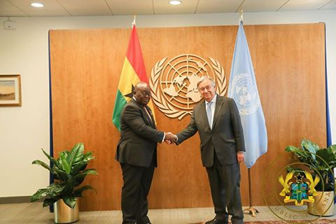 President Akufo-Addo Meets UN Secretary General