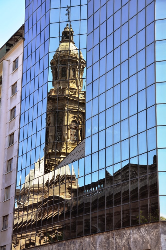 Cathedral of Santiago de Chile reflection