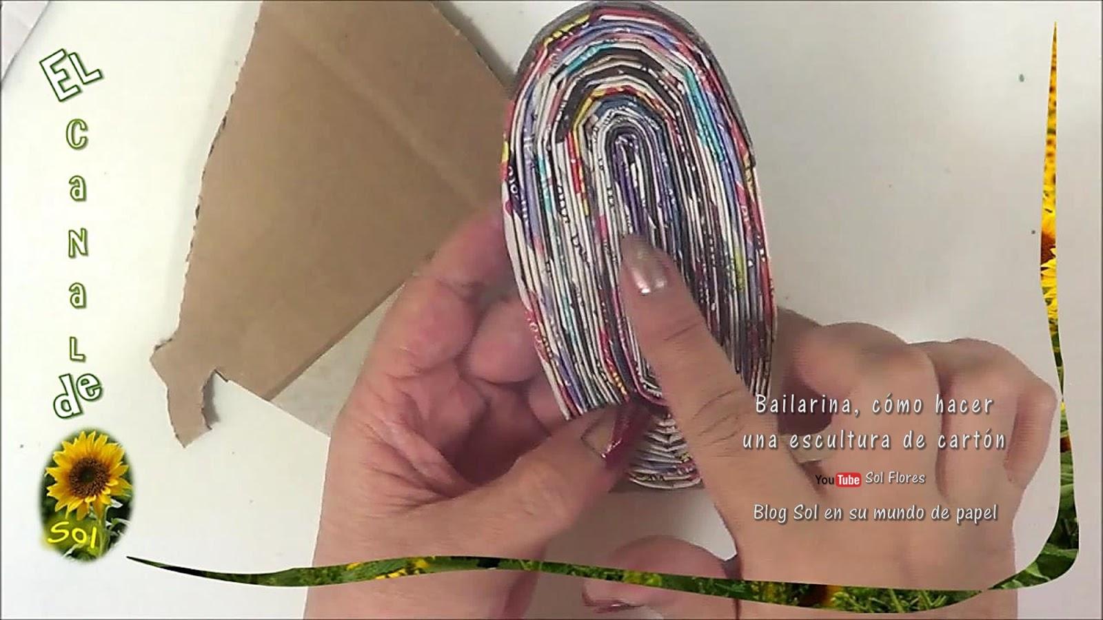 Bailarina, cómo hacer una escultura de cartón