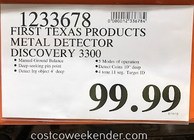 Deal for the Bounty Hunter Discovery 3300 Metal Detector at Costco