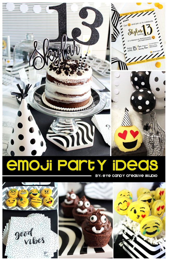 Emoji Birthday Party Ideas Decor Pillows