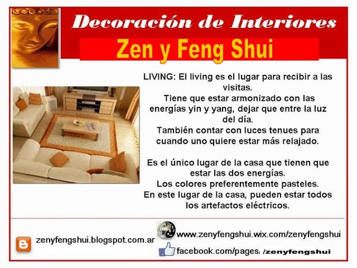 ZEN Y FENG SHUI + TAO : Feng Shui Diseño Living