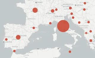mappa italia coronavirus