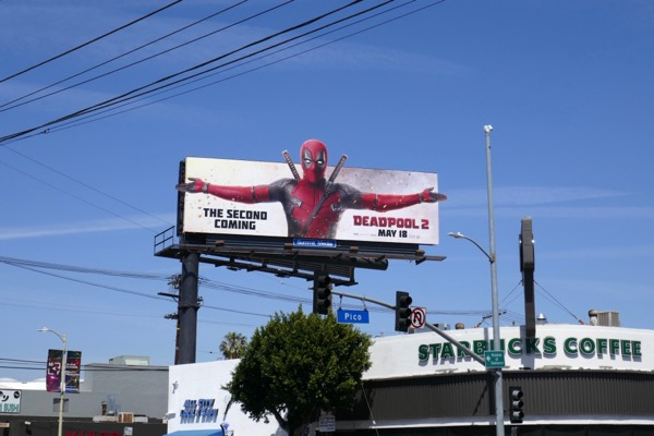 Deadpool 2 movie billboard