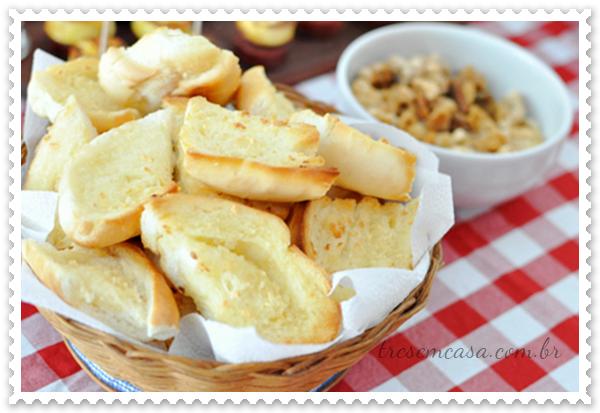 receita pão alho forno