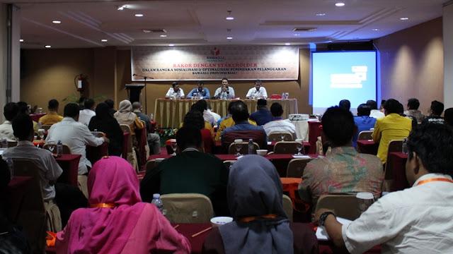 Bawaslu Riau Rakor dengan Stakeholder di Hotel Grand Elite