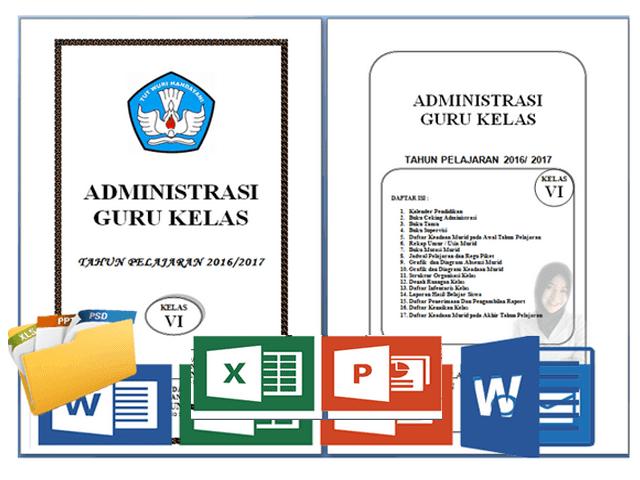 Download Administrasi Guru Kelas SD/MI Lengkap Terbaru