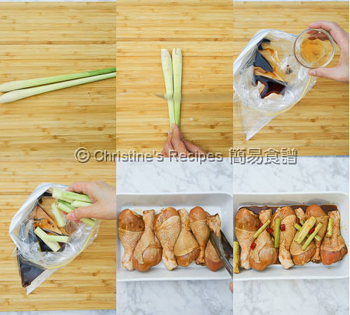 焗香茅雞腿製作圖 Baked Lemongrass Drumsticks Procedures