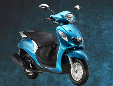 Yamaha Fascino scooter matt blue hd pics