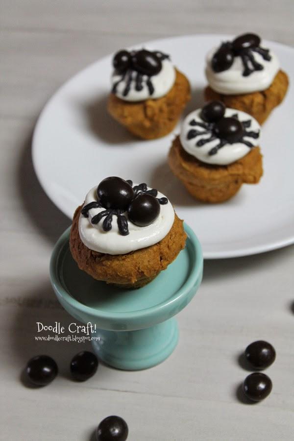 http://www.doodlecraftblog.com/2013/10/halloween-pumpkin-spice-spider-muffins.html