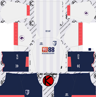 A.F.C. Bournemouth 2018/19 away Kit - Dream League Soccer Kits
