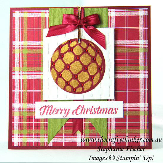 #thecraftythinker  #stampinup  #christmascard  #xmascard  #homemadestencil  #cardmaking , Christmas card, home made stencil, Shimmer Paint, Stampin' Up Australia Demonstrator, Stephanie Fischer, Sydney NSW